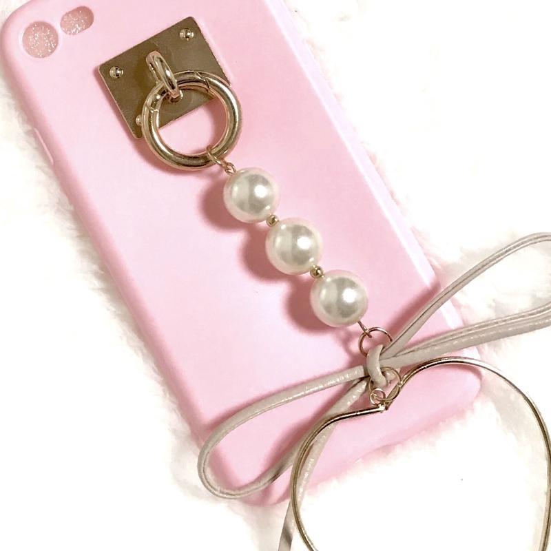 チャーム iPhoneケース アイフォンケース ピンク かわいい 韓国 女子 おすすめ plus プラス 6プラス 6splus 7プラス 8plus iPhone6plus iPhone8プラス