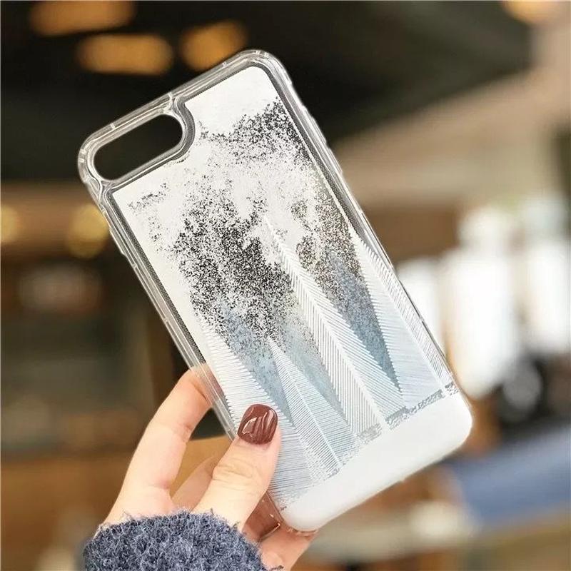 iphone ケース おしゃれ シンプル クリア 雪