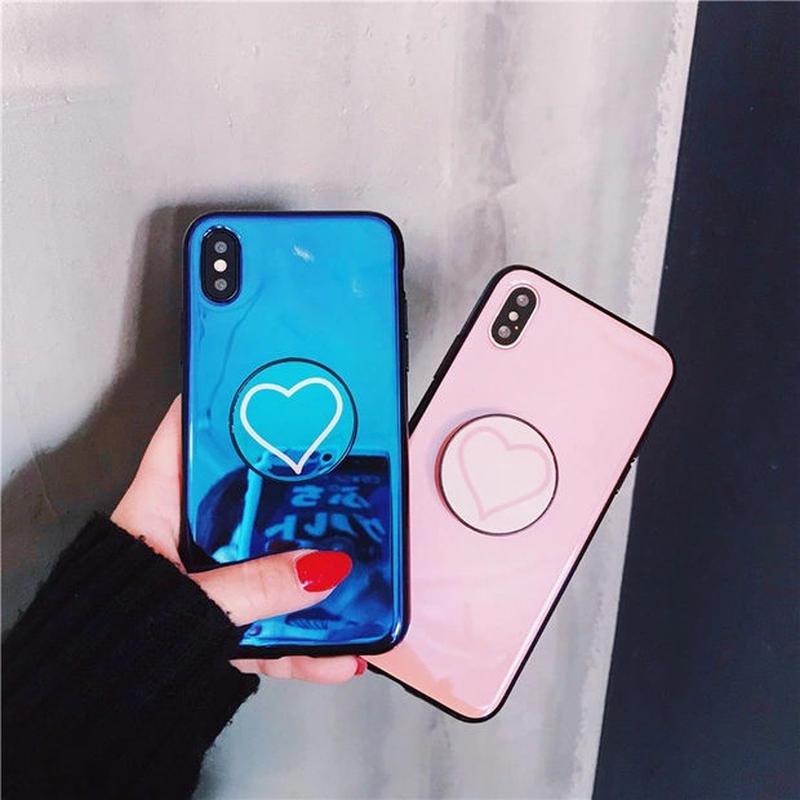 ハート スマホケース アイフォンケース 韓国 かわいい 流行り 人気 おすすめ お洒落 海外 女子 シンプル リング iPhone 6 6s 7 8 8Plus X iPhone8 iPhoneXS