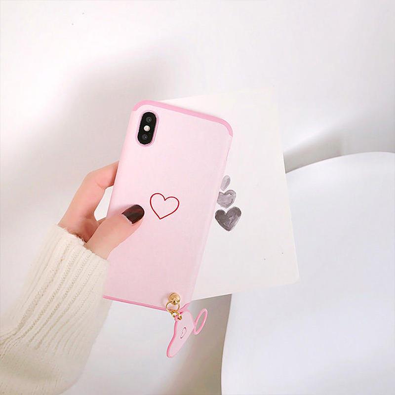 女子 iPhoneケース スマホケース アイフォンケース 韓国 流行り 人気 おすすめ リング 便利 シンプル ハート iPhone6プラス plus iPhoneX iPhoneXS