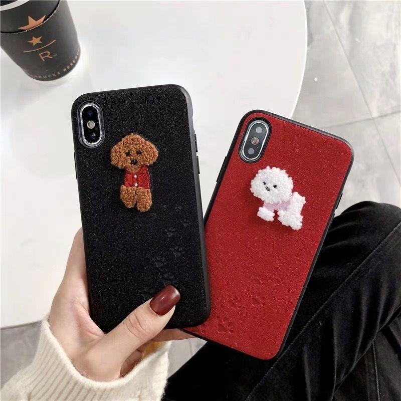 トイプードル スマホケース  アイフォンケース 韓国 通販 カバー 流行り おしゃれ プードル トイプー 犬 iPhone 6s 8 X XS MAX XR iPhoneX iPhoneXR
