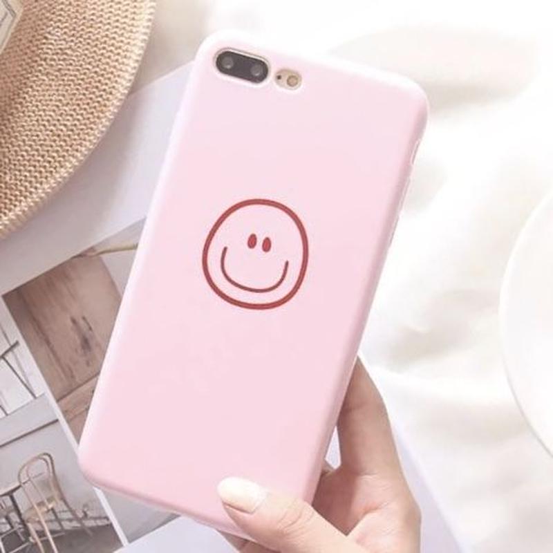 ニコちゃんマーク iPhoneケース スマホケース スマイル スマイリー かわいい ピンク plus プラス 7 8 iPhone6plus iPhone7 iPhone8 iPhone7プラス