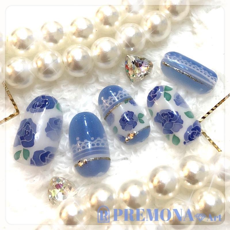 【10枚セット】ロマンスローズ(ブルー)/SET1360-1369