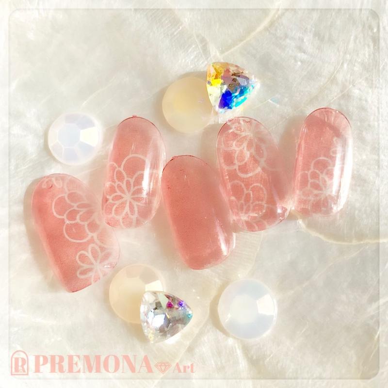 【10枚セット】ガラスフラワー(オレンジ)/SET1510-1519