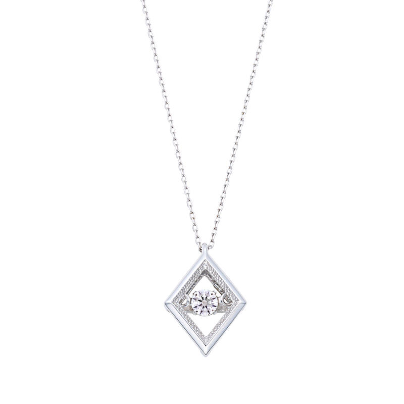 K18WGダイヤモンドネックレス(ダンシングストーン)