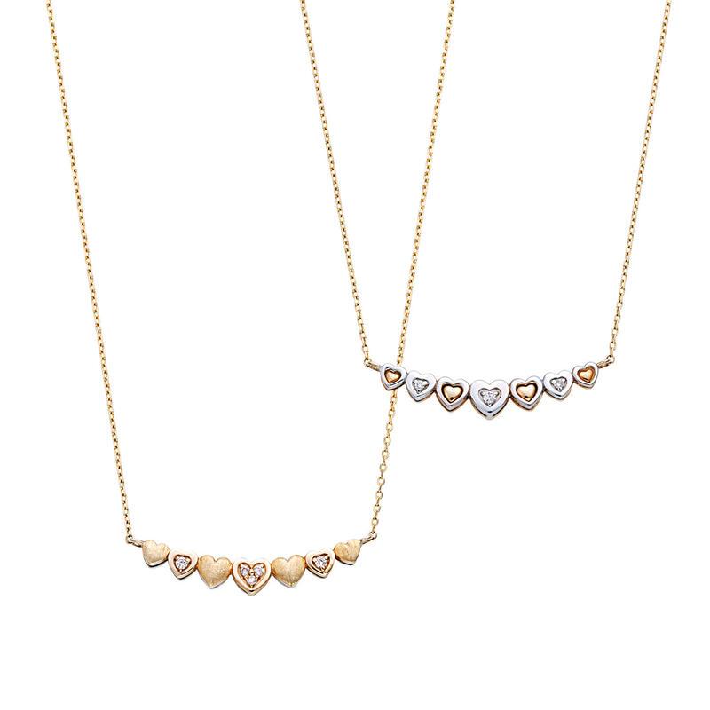 K10WG/YGダイヤモンド ネックレス (リバーシブル)