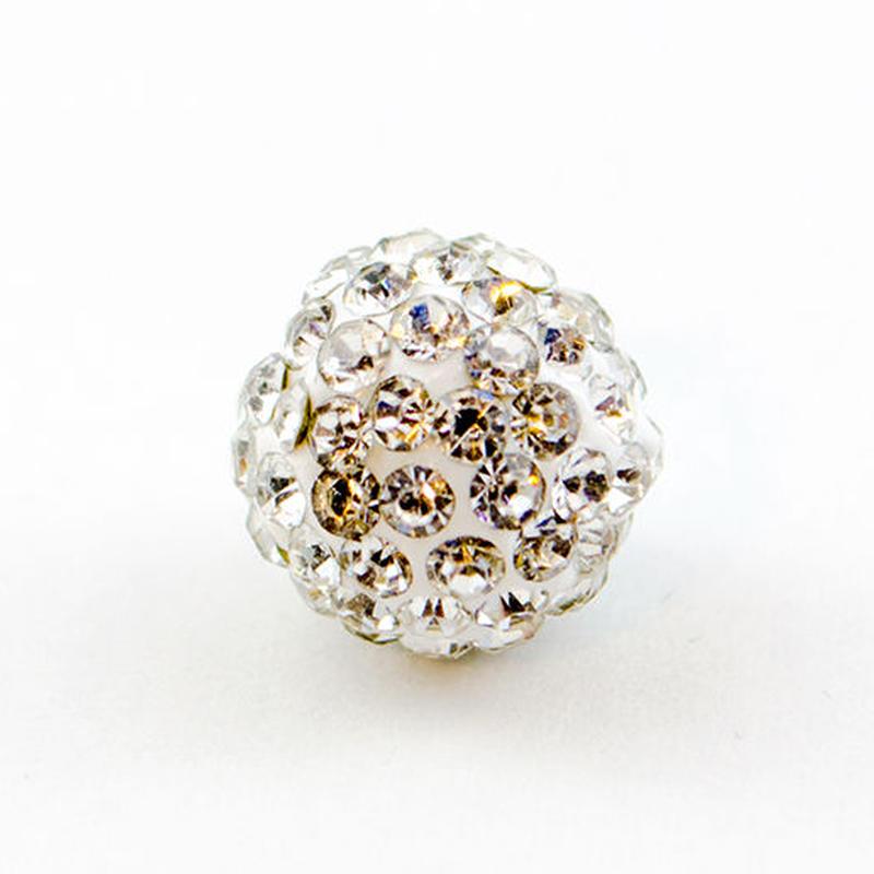 片穴 ラインストーン パヴェボール ガラスストーン 1個 10mm クリスタル pve-crystal10a