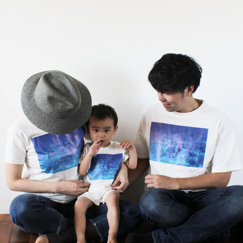 T-shirs <White×Kona Blue >   FOR KIDS
