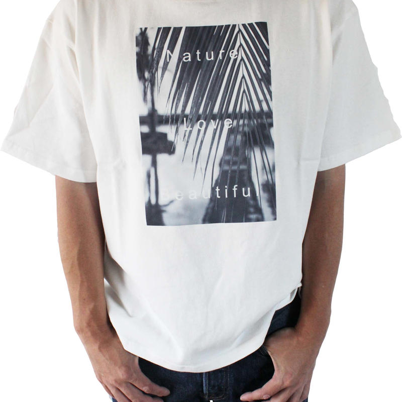 T-shirt <White×Palm Monochrome>