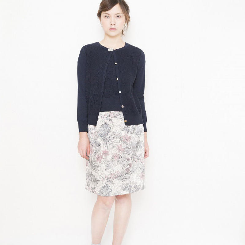flower skirt Onepiece  navy