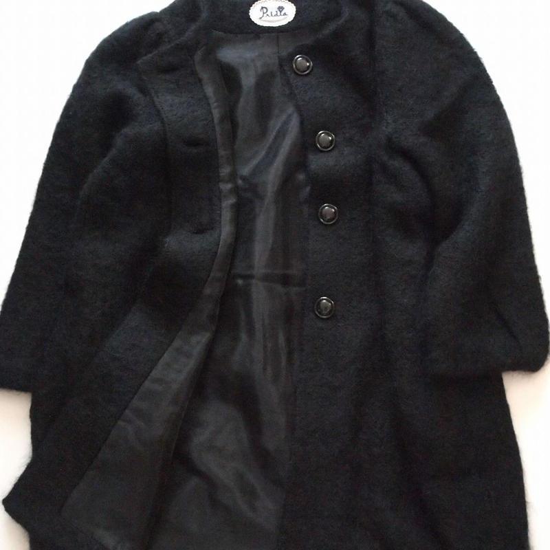 fur mohair Coat black