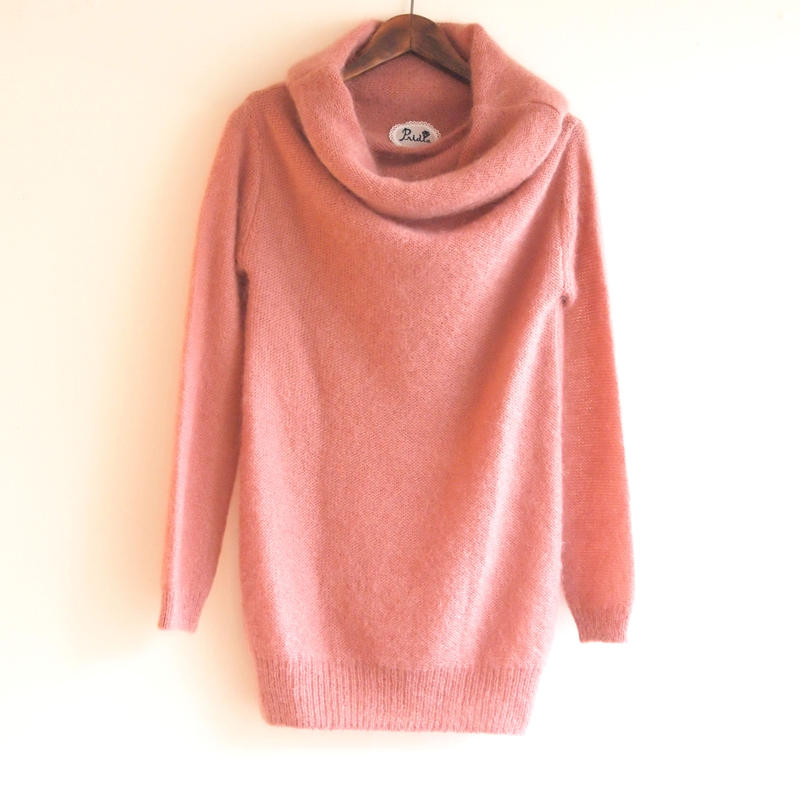 pastel mohair Pullover berry pink
