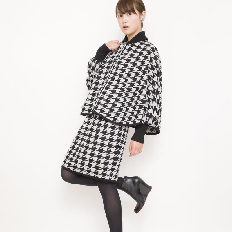 【SALE】hound`s tooh Jacket beige x black