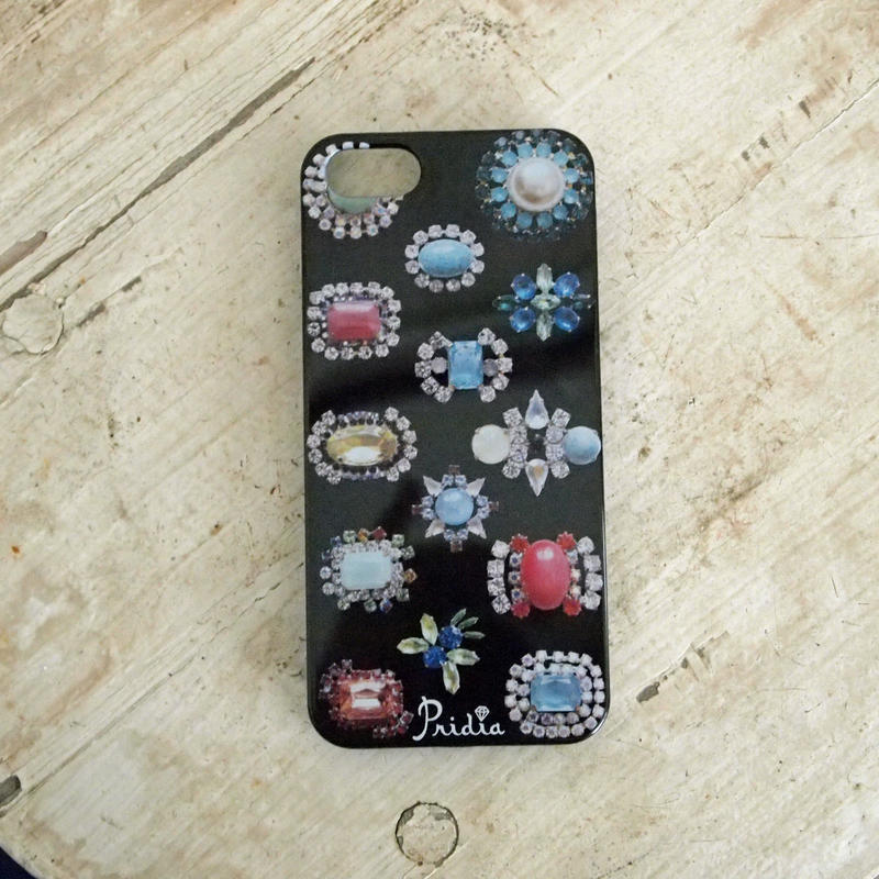 【メール便OK】bijoux print iPhone cover 5/5s black