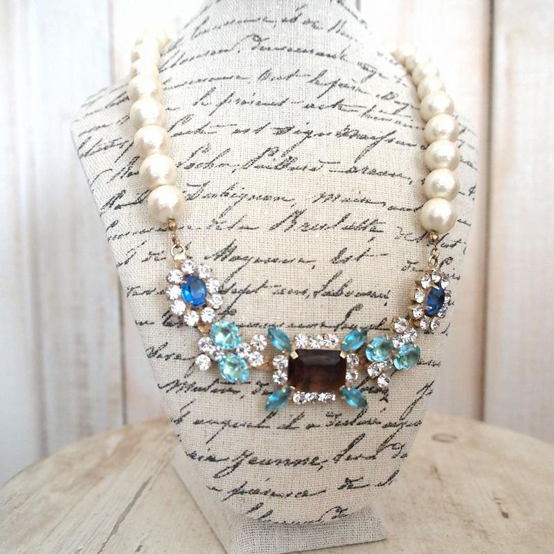 cotton pearl bijoux necklace 032⑤