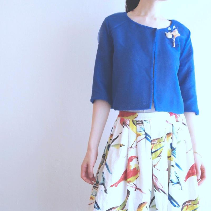 organdy knit Cardigan blue