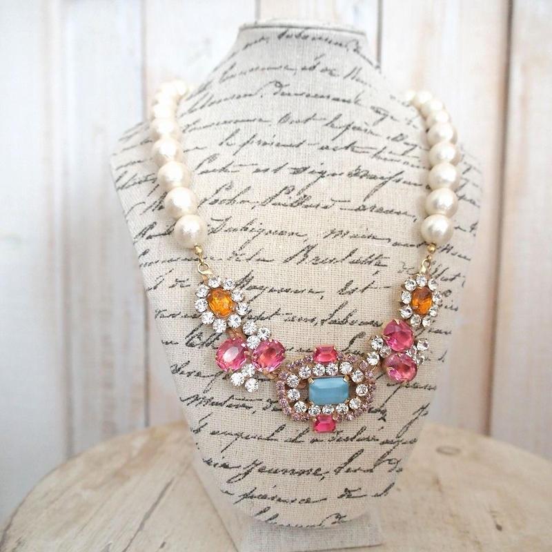 cotton pearl bijoux necklace 032⑥