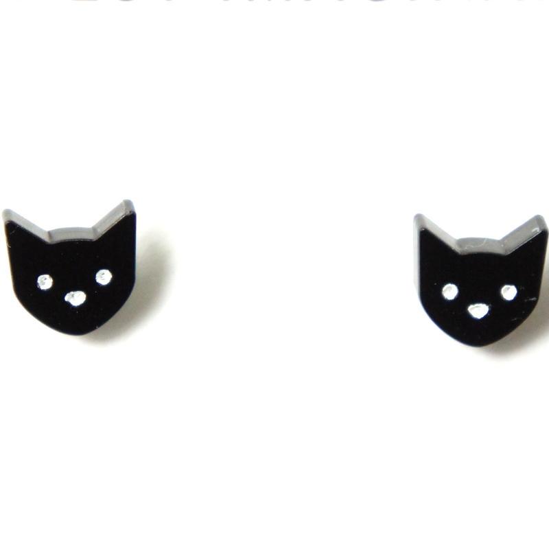 【イギリス】黒猫 ピアス