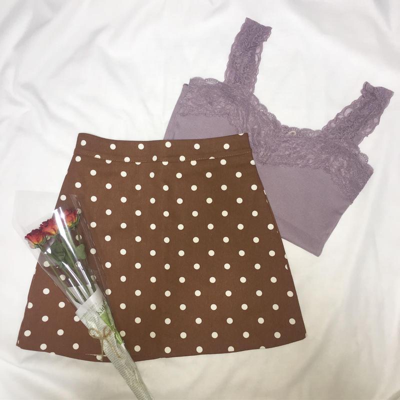 dot skirt B1001