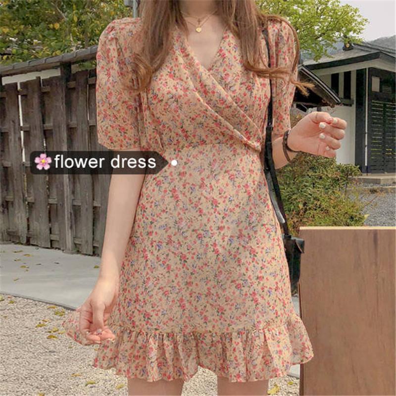 flower dress     D1014