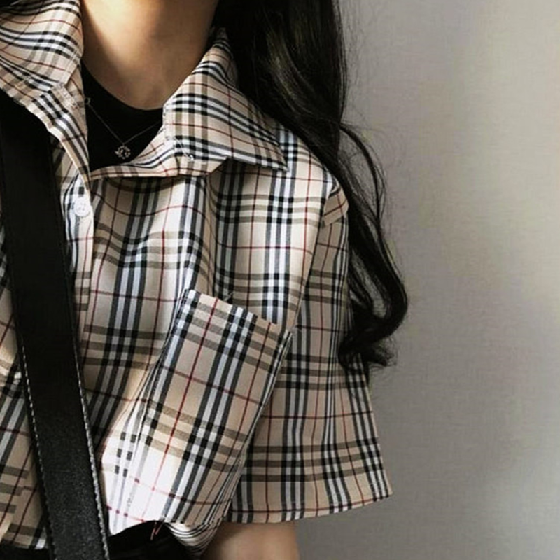 チェックシャツ T1008