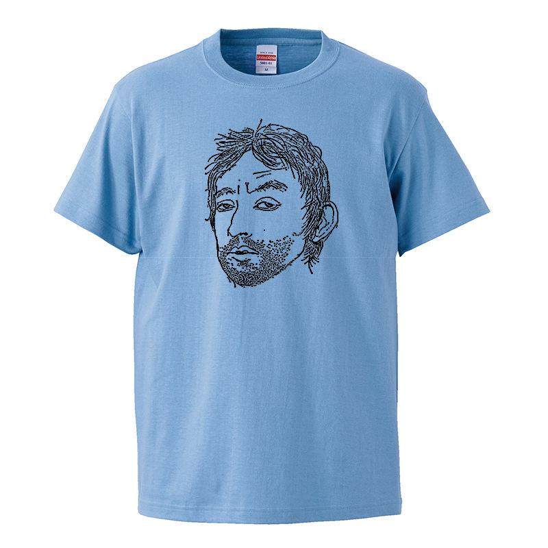 【Serge Gainsbourg/セルジュ・ゲンスブール】5.6オンス Tシャツ/BL/ST-019_bk
