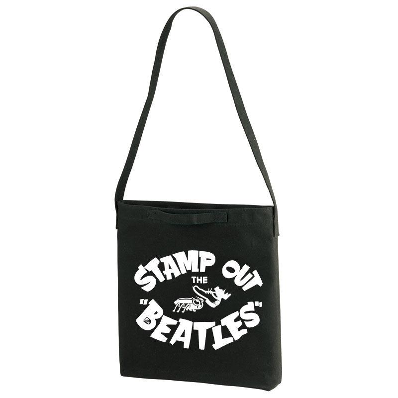 【Stamp Out The Beatles-スタンプアウトザビートルズ】ヘビーキャンバス ショルダーバッグ/BK/TB- 196