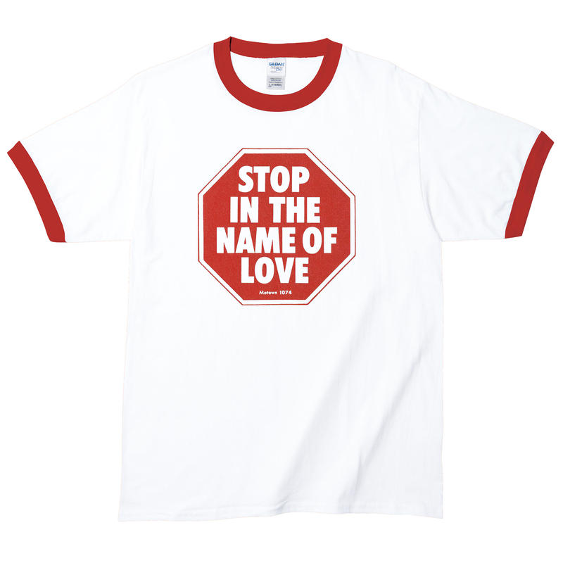 【The Supremes-Stop In The Name Of Love/ザ・シュープリームス】5.3オンス Tシャツ/WH-RD/RT-152
