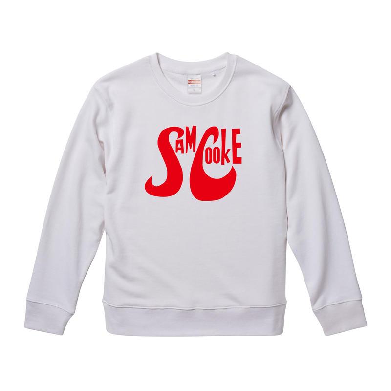 【Sam Cooke-サムクック/ロゴ・スウェット】9.3オンス スウェット/WH/SW- 240