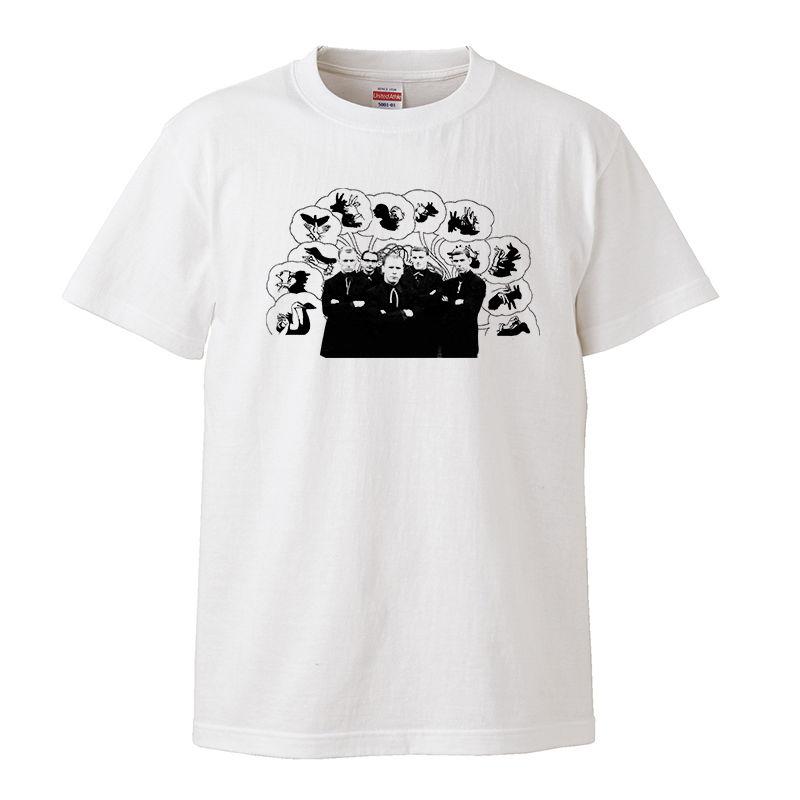 【MONKS THINK /モンクス】5.6オンス Tシャツ/WH/ST- 259
