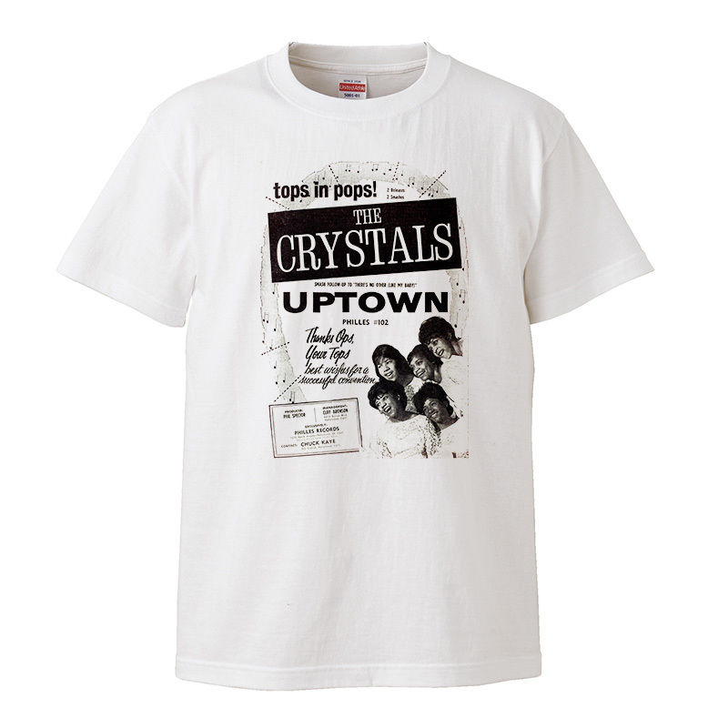 【The Crystals-クリスタルズ/UP TOWN】5.6オンス Tシャツ/WH/ST- 168