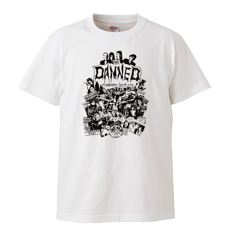【The Damned-ダムド/5th Anniversary】5.6オンス Tシャツ/WH/ST- 169
