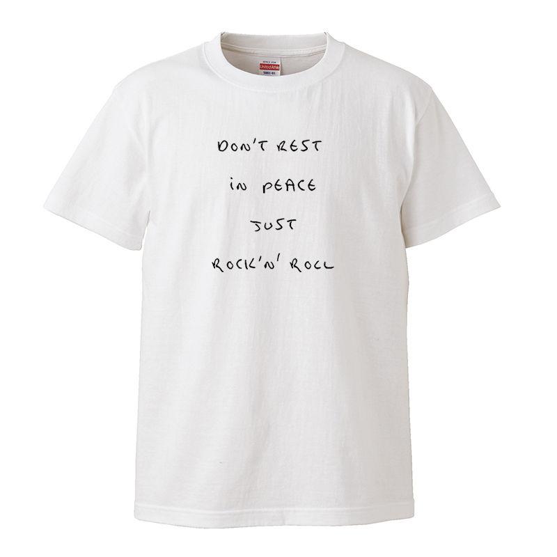 【JUST ROCK 'N' ROLL/内田裕也】5.6オンス Tシャツ/WH/ST- 313