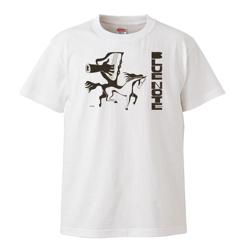 【Mead Lux Lewis-blue note/ ミード・ルクス・ルイス-ブルーノート】5.6オンス Tシャツ/WH/ST-092