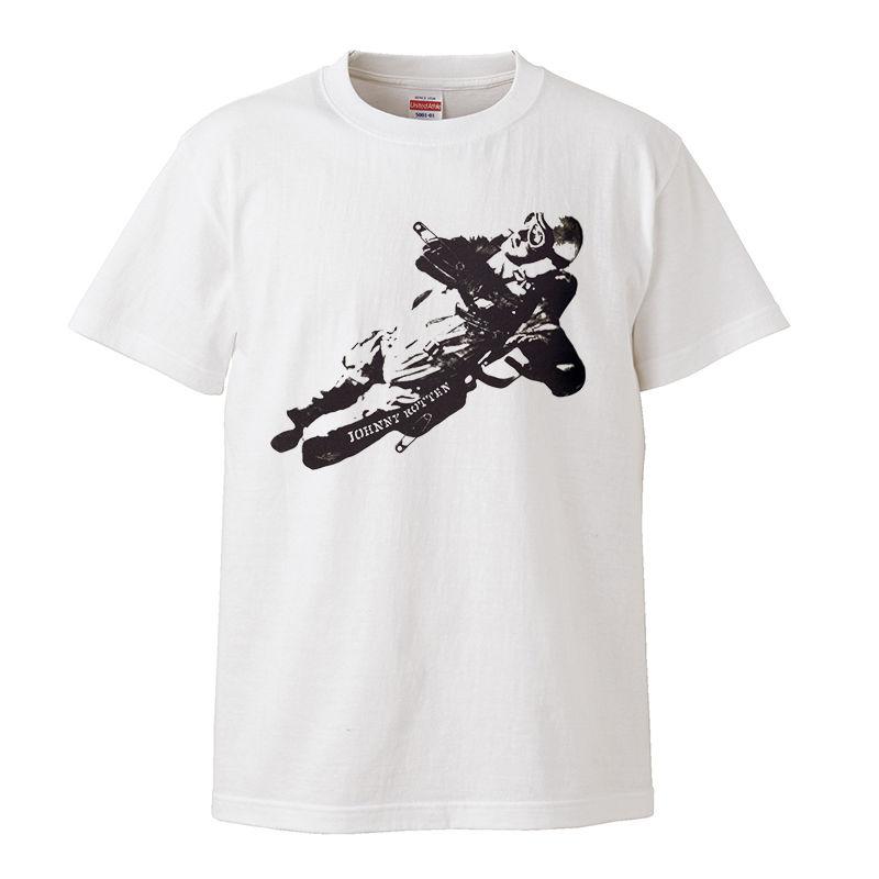 【johnny rotten-ジョニー・ロットン/Sexpistols】5.6オンス Tシャツ/WH/ST- 281