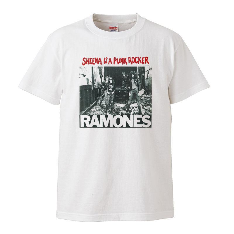 【Sheena is a punk rocker/Ramones-ラモーンズ】5.6オンス Tシャツ/WH/ST- 315