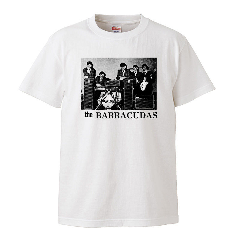 【THE BARRACUDAS/ザ・バラクーダズ】5.6オンス Tシャツ/WH/ST- 347