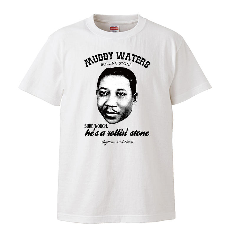 【Muddy Waters-rolling stone/マディ・ウォーターズ】5.3オンス Tシャツ/WH/ST- 249