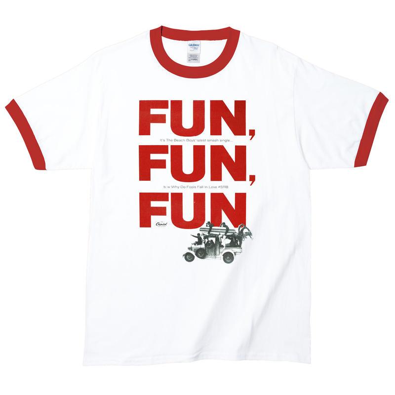 【Beach Boys-Fun Fun Fun/ビーチボーイズ】5.3オンス Tシャツ/WH-RD/RT-145