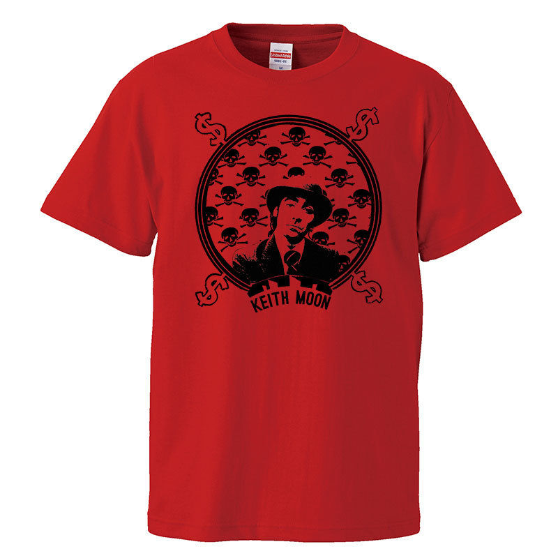【Kieth Moon-キース・ムーン/The who】5.6オンス Tシャツ/RD/ST- 282