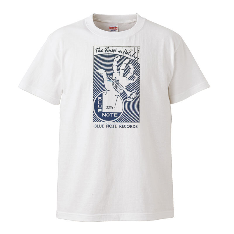 【BLUE NOTE/ ブルー・ノート】5.6オンス Tシャツ/WH/ST-099
