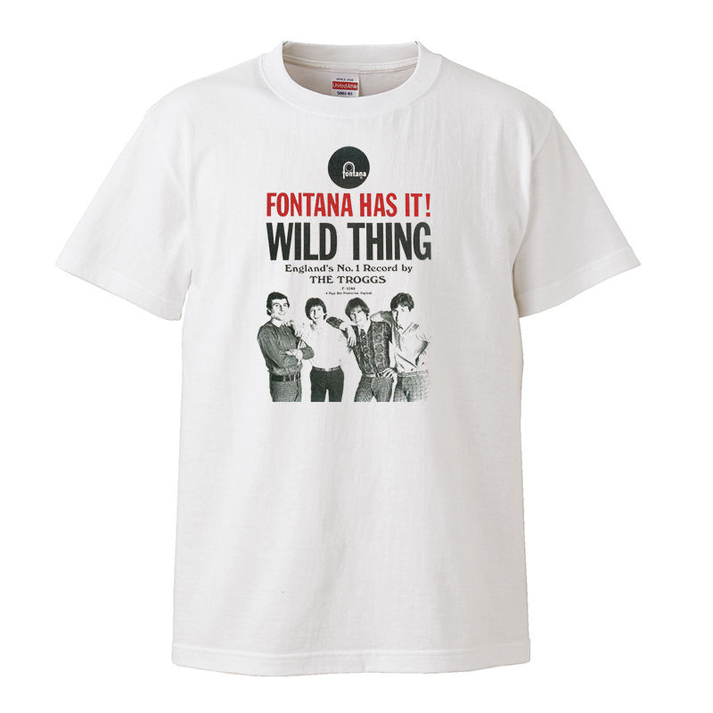 【The Troggs-トロッグス/Wild Thing】5.6オンス Tシャツ/WH/ST- 186