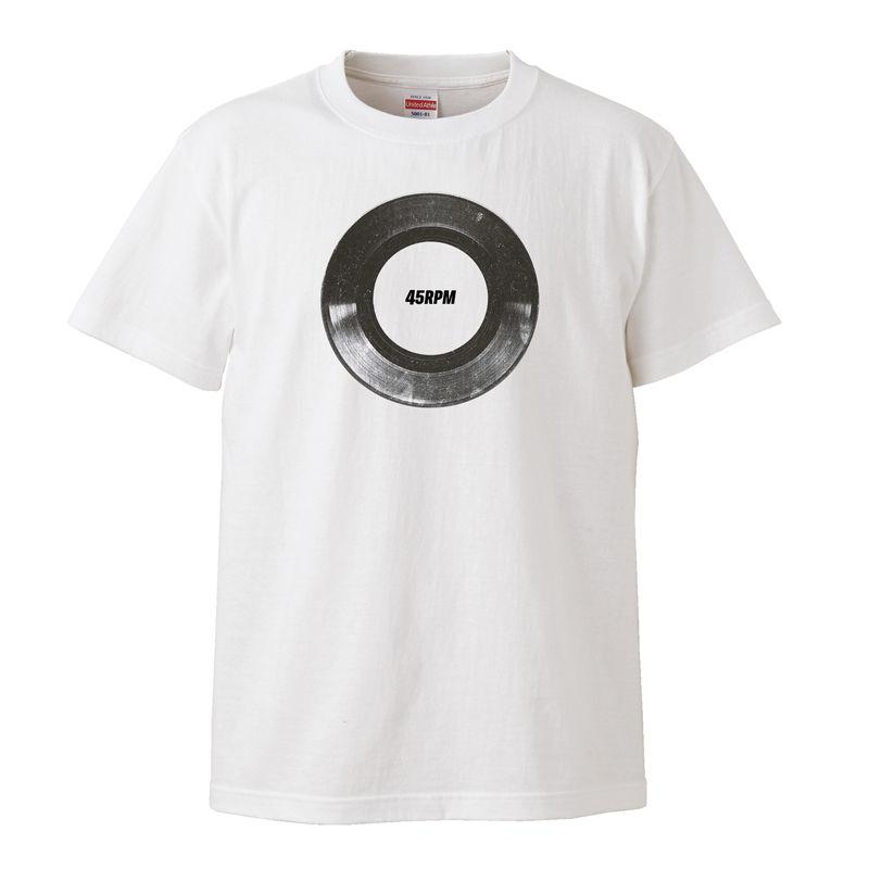 【45RPM/シングル・レコード】5.6オンス Tシャツ/WH/ST-044