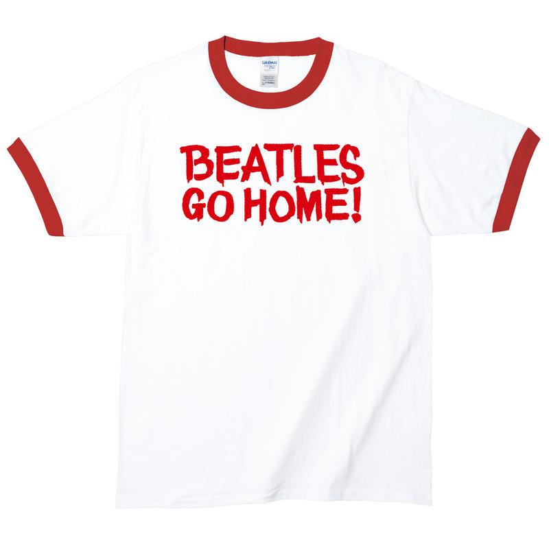 【Beatles Go Home!/ビートルズ ゴー ホーム】5.3オンス Tシャツ/WH-NV/RT-144