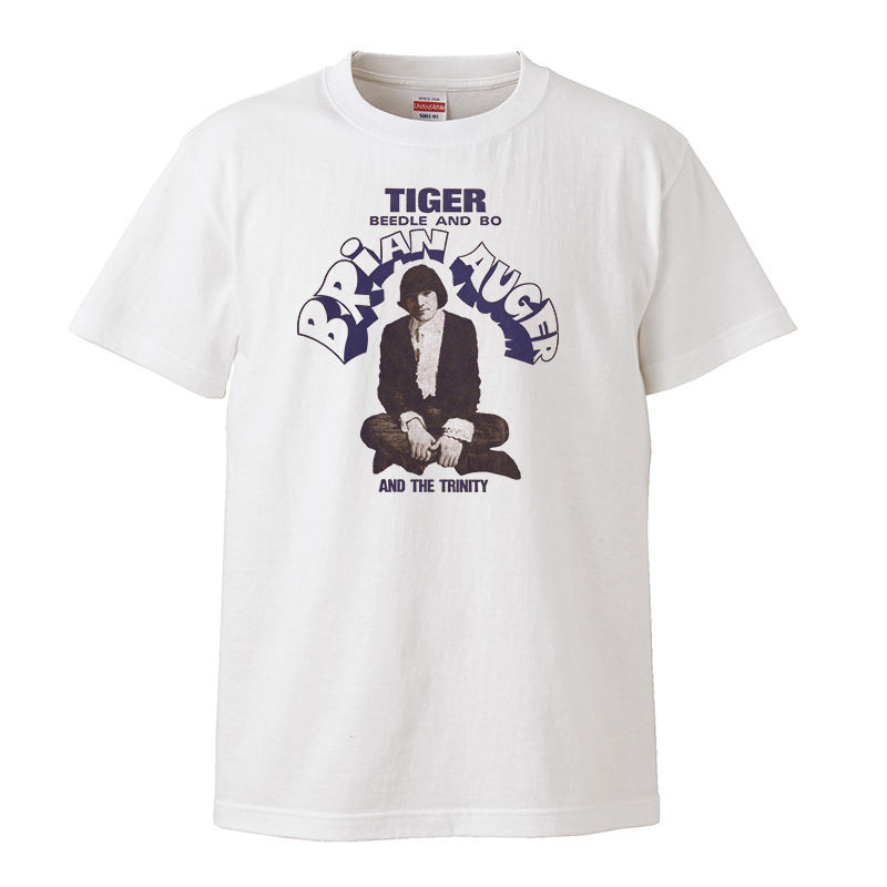 【Brian Auger & The Trinity-ブライアン・オーガー /Tiger-/Beedle And Bo】5.6オンス Tシャツ/WH/ST- 173