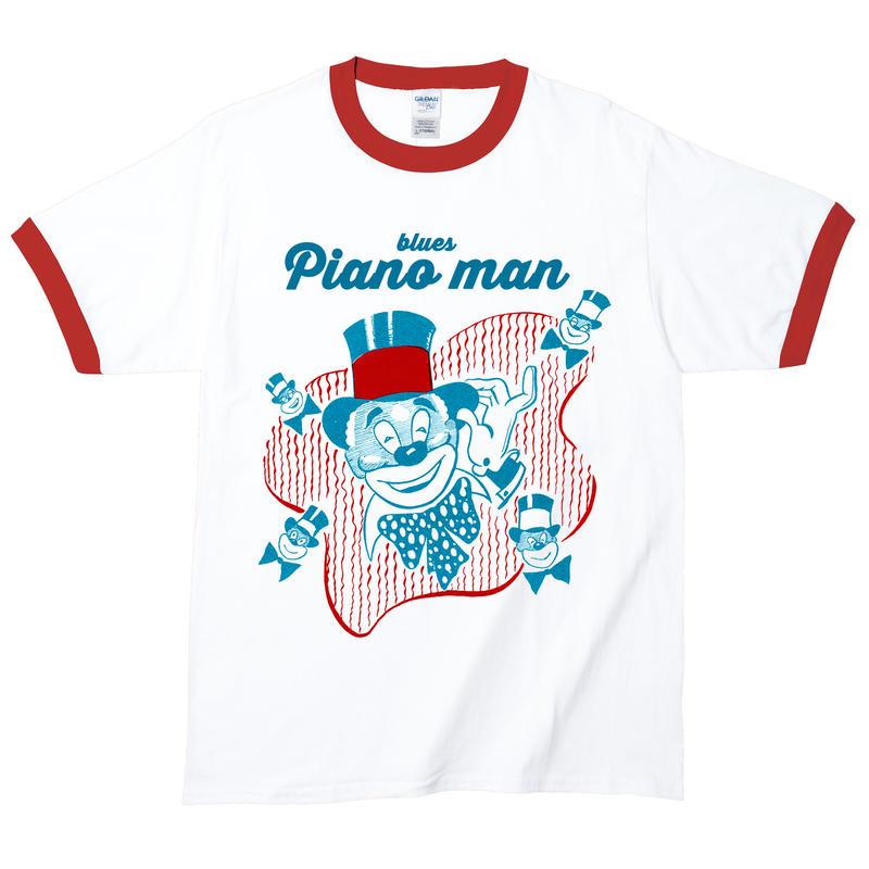 【Blues Piano Man/ブルース・ピアノマン】5.3オンス Tシャツ/WHRD/RT- 306