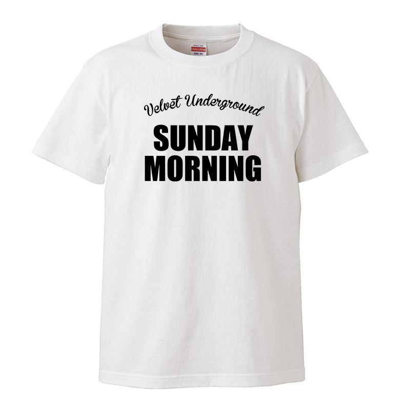 【The Velvet Underground-ヴェルヴェット・アンダーグラウンド/SUNDAY MORNING】5.6オンス Tシャツ/WH/ST- 163