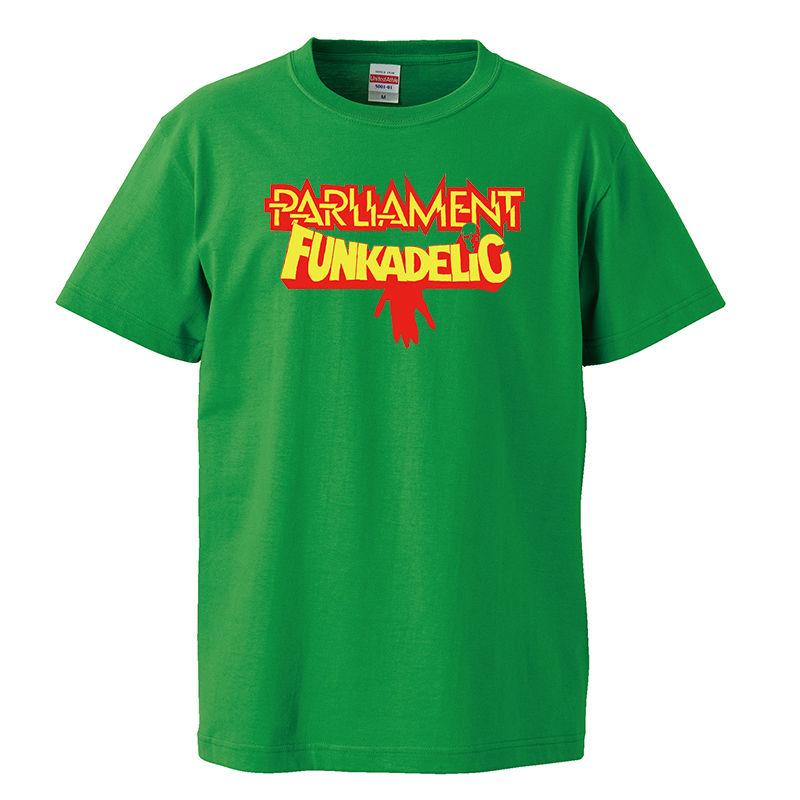 【Parliament Funkadelic/パーラメント・ファンカデリック】5.6オンス Tシャツ/GR/ST-026