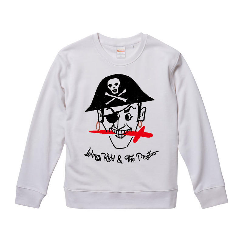【Johnny Kidd & The Pirates /ジョニー・キッド&ザ・パイレーツ】9.3オンス スウェット/WH/SW-257