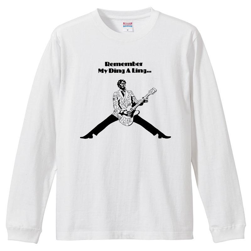 【Chuck Berry-チャックベリー/My ding a ling】5.6Oz ロングスリーブTシャツ/WH/LT- 362